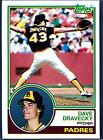 1983 Topps Dave Dravecky #384 Baseball Card