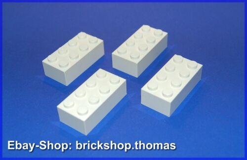 2x4 Basic Bricks weiß // white 3001 Lego 4 x  Bausteine Steine NEU // NEW