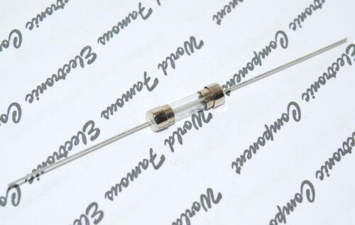 2 un ACCIÓN RETARDADA LITTELFUSE Fusible de Vidrio Pigtail 4A 125V 5x20mm-Para Audio