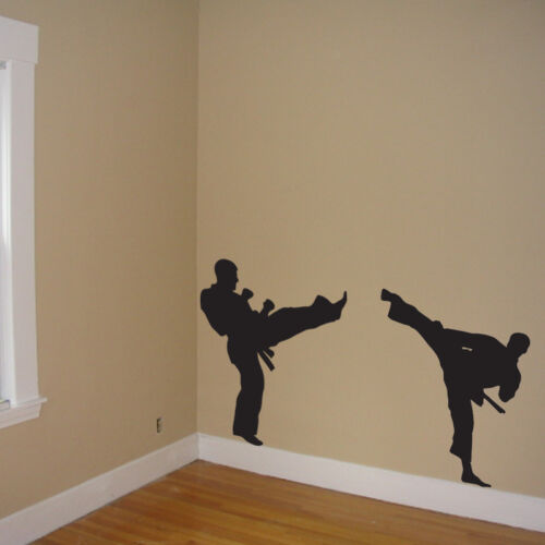 Martial Arts Wall Mural, kick Decal Wall Art, martial arts, Vinyl Sticker