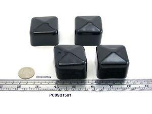 """End Caps 1//2/"""" Square Plastic tips 12  Square Black Push-On Pliable Vinyl Caps"""