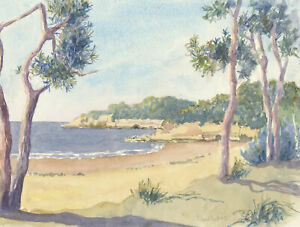 Audrey-Reddy-Contemporary-Watercolour-Deserted-Beach