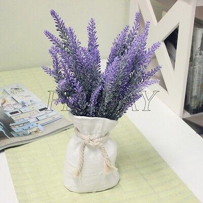 1pcs Fake Silk Artificial Lavender Flower Home Wedding Garden Decor DIY 36cm