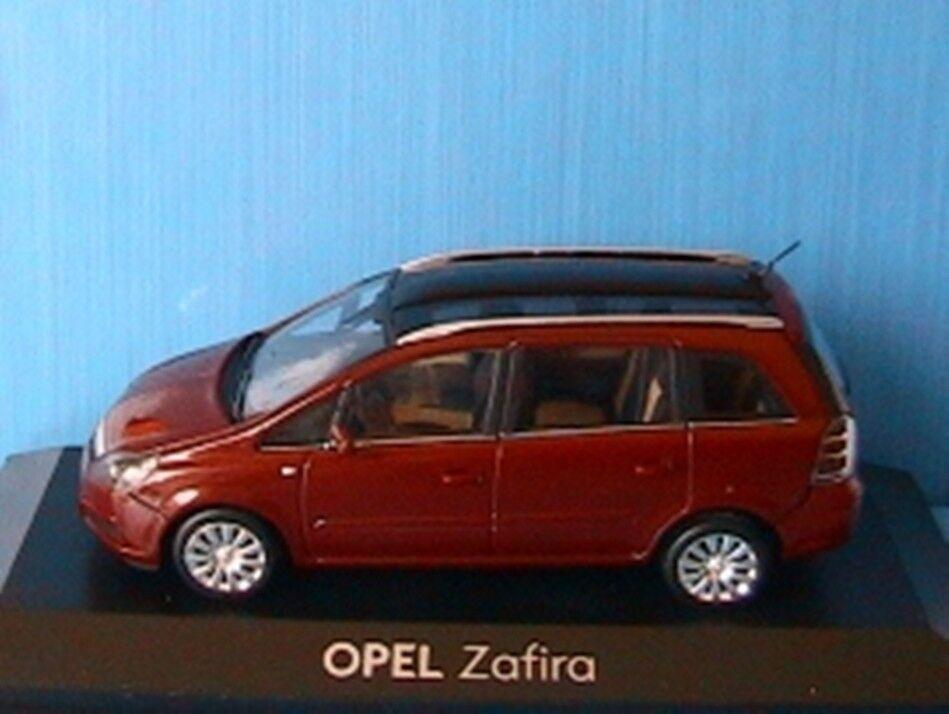 OPEL ZAFIRA 2 2006 DARK rouge METAL MINICHAMPS 1 43 ROUGE PHASE II SPECIAL MODEL