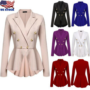 Women-OL-Work-Office-Formal-Long-Sleeve-Slim-Blazer-Suit-Jacket-Coat-Outwear-Top