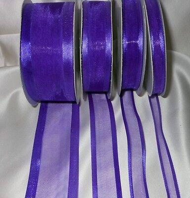 Cinta De Tela Satén 40mm Completo 25m Roll Mid púrpura