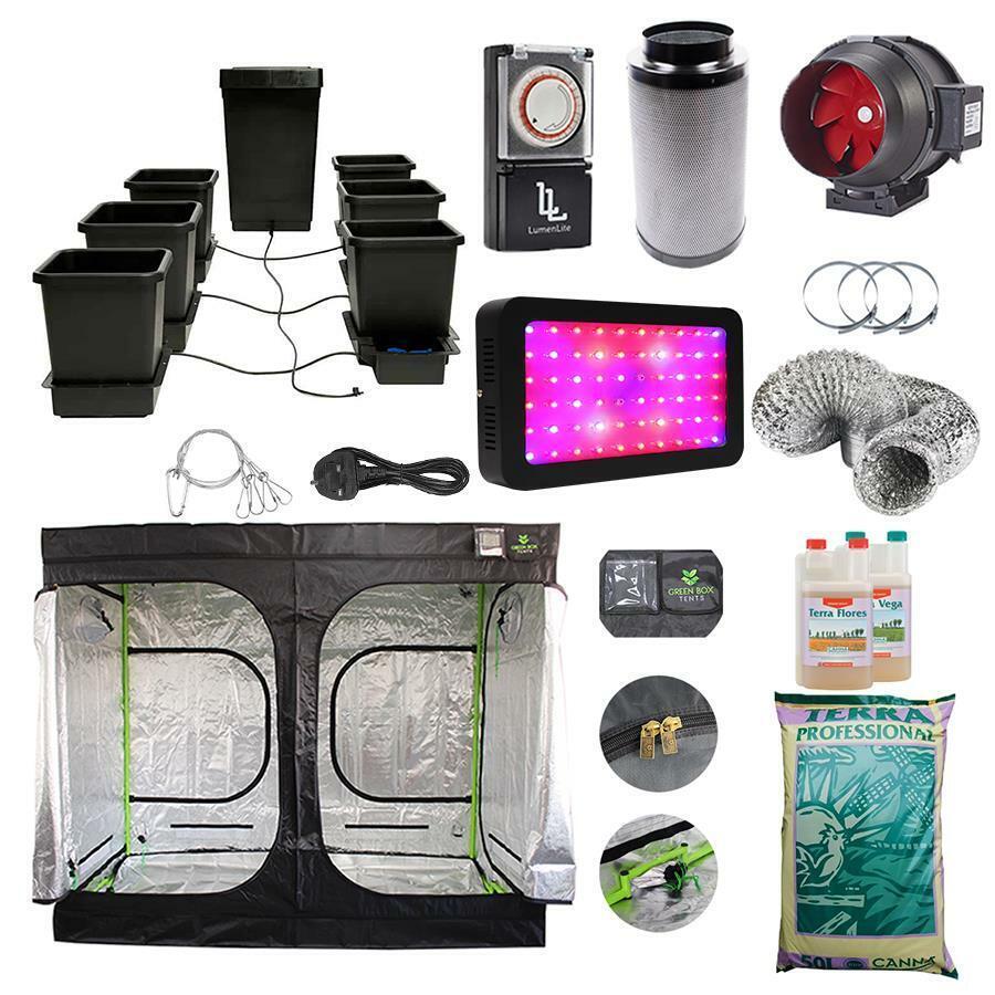 AutoPot 6-Pot Complete Grow Tent Kit Canna Terra LED Grow Light Hydroponics