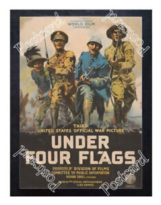 Historic-WWI-Recrutiment-Poster-Under-four-flags-Postcard