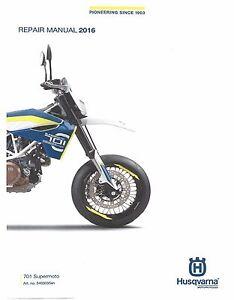 husqvarna workshop service manual 2016 701 supermoto ebay rh ebay com husqvarna motorcycle user manual husqvarna motorcycle user manual