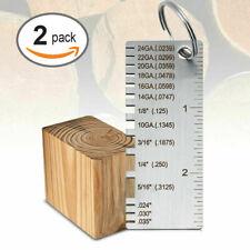 2pcs Sheet Metal Gauge Thickness Gage Measuring Tool Wire Gauge Us Td