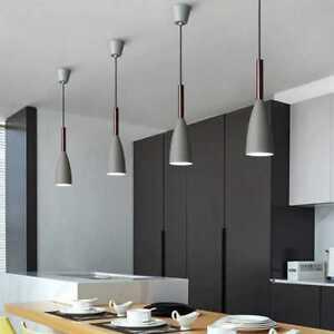 Details about Modern Ceiling Lights Bar Lamp Silver Chandelier Lighting Kitchen Pendant Light