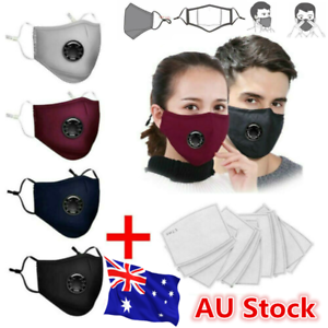 Washable Reusable PM 2.5 Anti Air Pollution Face Mask With Respirator 10 Filters