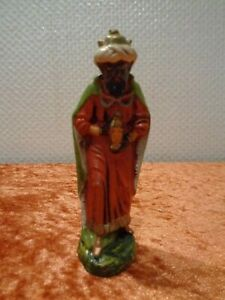 Nativity-King-Papier-Papp-Masse-Very-Lightweight-Height-8-cm-Vintage