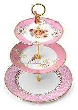 PiP Studio Cake Stand Etagere pink Tischaufsatz Gestell 3 stufig Porzellan Vogel