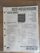 Schema SONY - Service Manual Mini Hifi Component System HCD-H550 HCD-H550M
