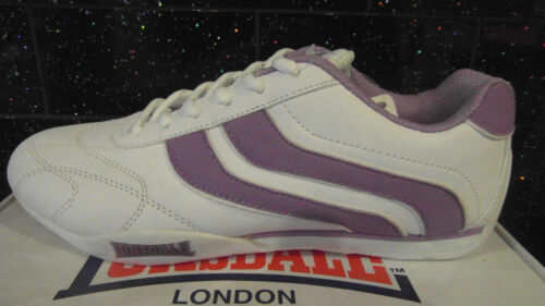 Lonsdale Camden womens trainers shoes 112075 White Lilac New Boxed UK 9