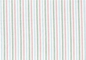 Image Is Loading Designer Fabric Green Blue Pink White Ticking Stripe