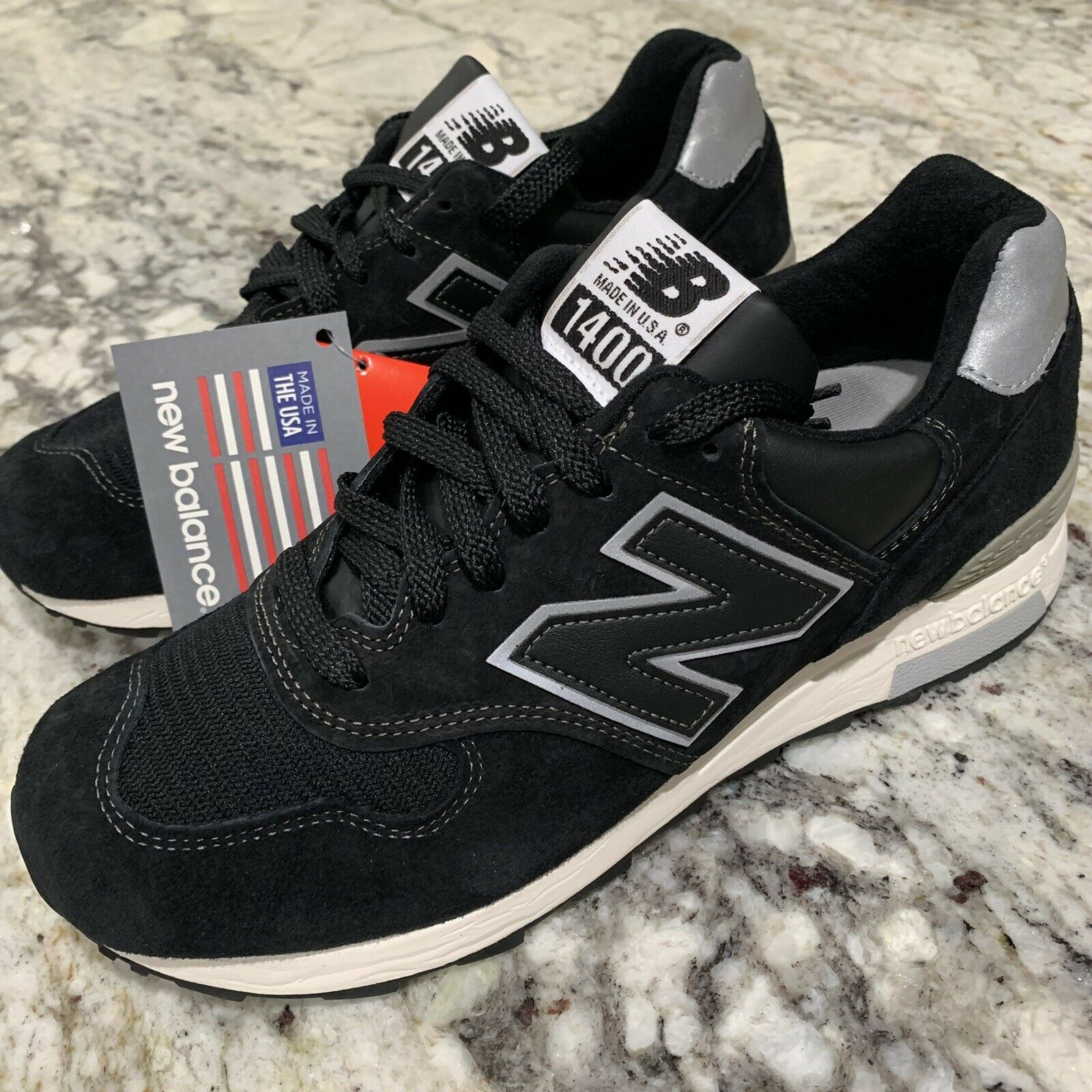 New Balance 1400 BKS Black Size 7 Made In USA New M1400BKS NB D