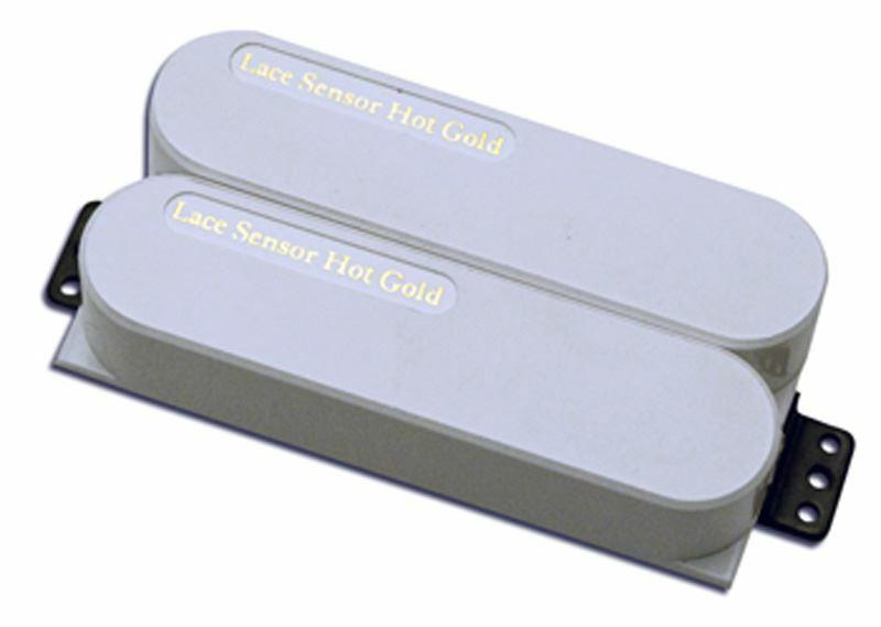 Spitze Sensor Hot Gold Dual Brücke Tonabnehmer - Weiß