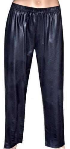 LederOptik TREND Schlupfhose Leggings MAGNA Lagenlook MARINEBLAU Gr 44 bis 58