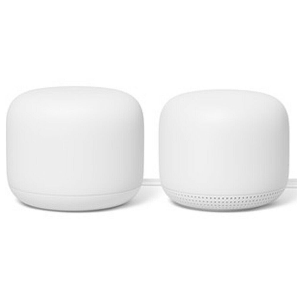 Google Nest Wifi Router Dual Band Mesh System AC2200 + Access Point 2-Pack GA008. Buy it now for 229.00