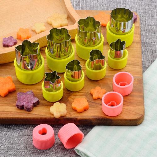 8pcs Stainless Steel Flower Shape Rice Vegetable Fruit Cutter Mold Slicer S~q