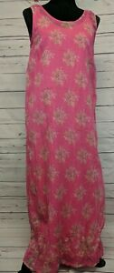 April-Cornell-Size-S-Pink-Floral-Maxi-Dress-Layered
