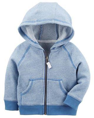 Carters Infant Boys Zip-Up MVP Hoodie Baseball Style Jacket NWT coat dark blue