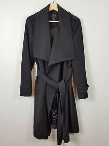 FOREVER-NEW-Womens-Black-Dakota-Trench-coat-Jacket-Size-AU-12-or-US-8