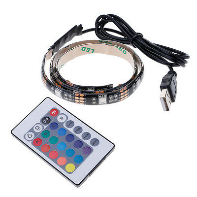 USB LED 5050SMD 60LED Flexible Color Changing Strip Light with Remote Controller