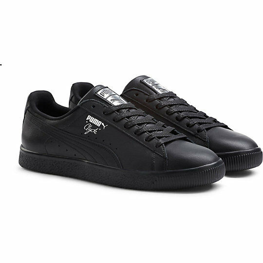 PUMA CLYDE CORE L FOIL BLACK SILVER NEW
