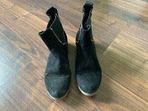 Details zu REPLAY Damen Sioko Stiefelette Stiefel Chelsea Boots Wildleder schwarz 38 TOP!