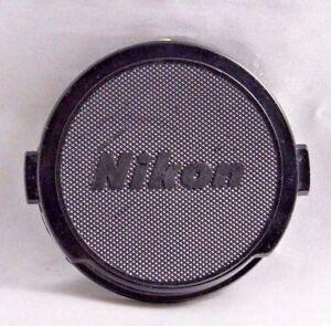 Nikon-snap-on-52mm-Front-Lens-Cap-for-50mm-f1-8-Nikkor-Genuine-all-black