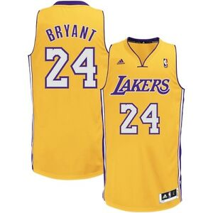 ADIDAS LA Lakers Kobe Bryant SWINGMAN MENS LARGE Jersey 100 ...
