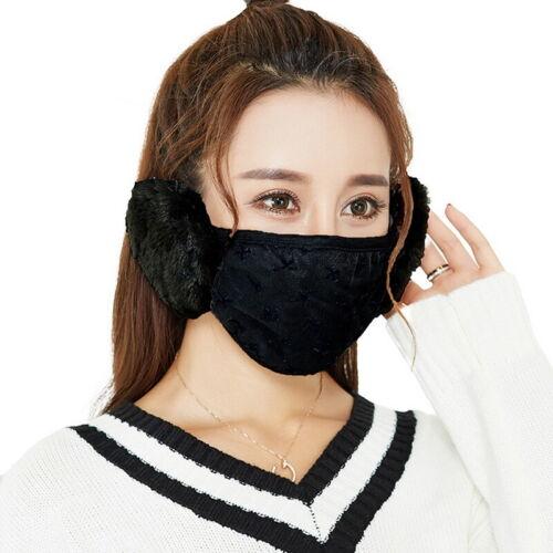 Women Men Unisex Adult Face Mask Ear Muffs Protection Winter Cover Fun Pet+