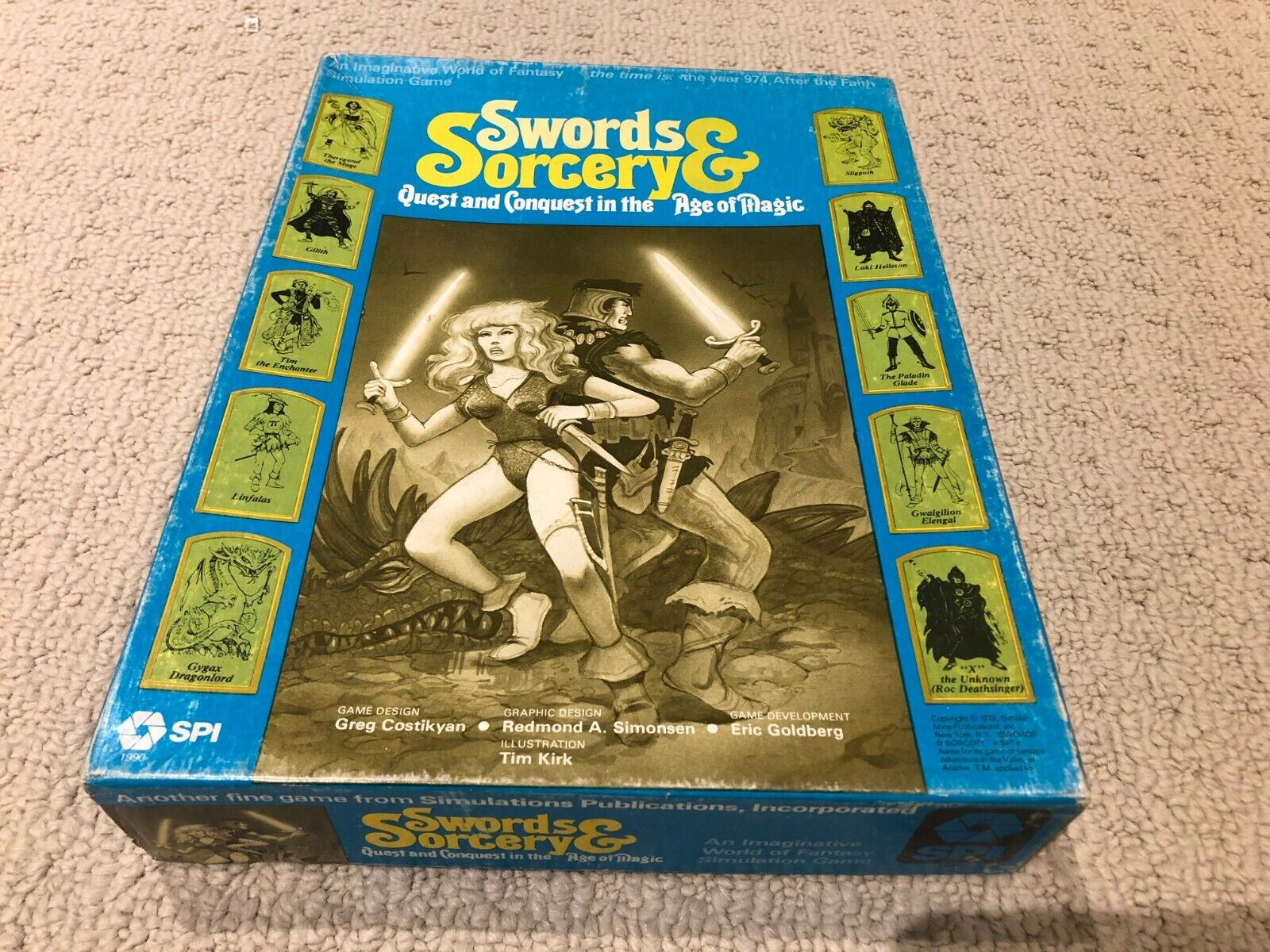 Swords & Sorcery SPI Games bluee Box Edition 1978 Unpunched