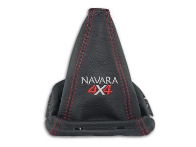 Schaltmanschette Fur Nissan Navara D40 05-09 Schaltsack Stickerei + Rahmen