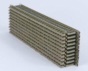 10x-FLEISCHMANN-PROFI-HO-6101-200mm-STRAIGHT-TRACK-SEC-039-s-REALLY-EXC-TO-V-Nr-MINT