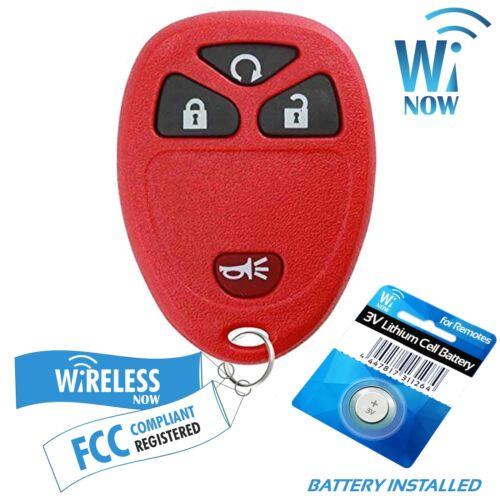 Car Key Fob Keyless Entry Remote 3Btn Red For 2007 2008 2009 2010 GMC Sierra
