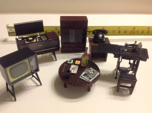 """Dollhouse Miniature Japanese Living Room Furniture 1:24 Accessories Featuring 2/"""""""