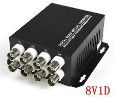 8 channel digital video fiber optic transmission converter 8v1d RS232 sike 1Pair