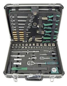 Brueder-Mannesmann-Werkzeuge-160-Teilig-Werkzeugkoffer-Wasserwaage-Saege-Zange