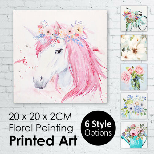 20x20x3CM Floral Canvas Painting Wall Printed Art Flower Hanging Art