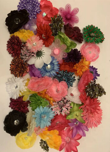 Lot 20 Wholesale Flower Daisy Hair Clips Bow Crafts Assorted Multi Color NEW