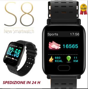 Smartwatch-orologio-Bluetooth-GPS-cardiofrequenzimetro-da-polso-s8-sport-cardio