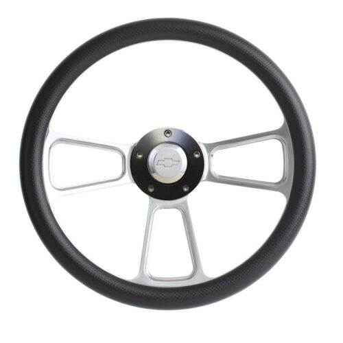 Hot Rod Black Custom Billet Steering Wheel Boss Kit for ididit Universal Column