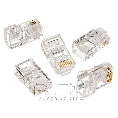 5x Ficha Conector Ethernet Rj45 De Red, Clavija Crimpadora 5xv138