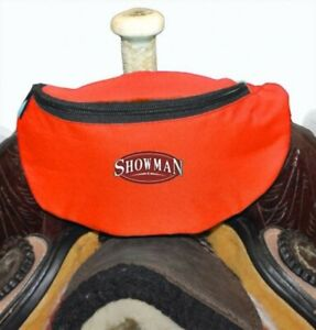 NEW-Showman-RED-Insulated-Nylon-Saddle-Pouch-NEW-HORSE-TACK-FREE-SHIPPING