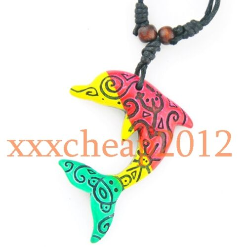 COOL-Tribal-style-surfer-dolphin-necklace-XL504