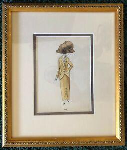 LA MODE FEMININE de 1910 à 1915 • Vintage 1920s Fine Art Pochoir • Framed